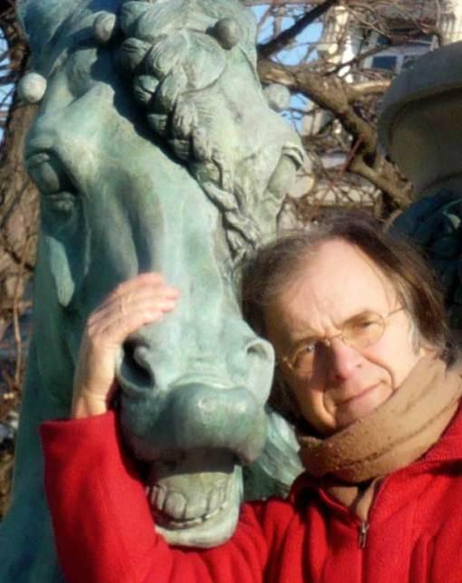 avec les chevaux de la fontaine des quatre parties du monde près de l'observatoire