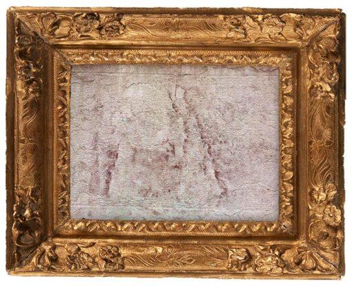 cadre doré avec texture du XVIe siècle
