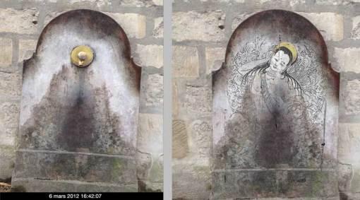 Milarepa sur la fontaine du Luco