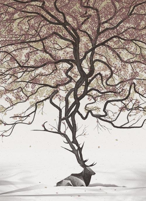 cerf-racines