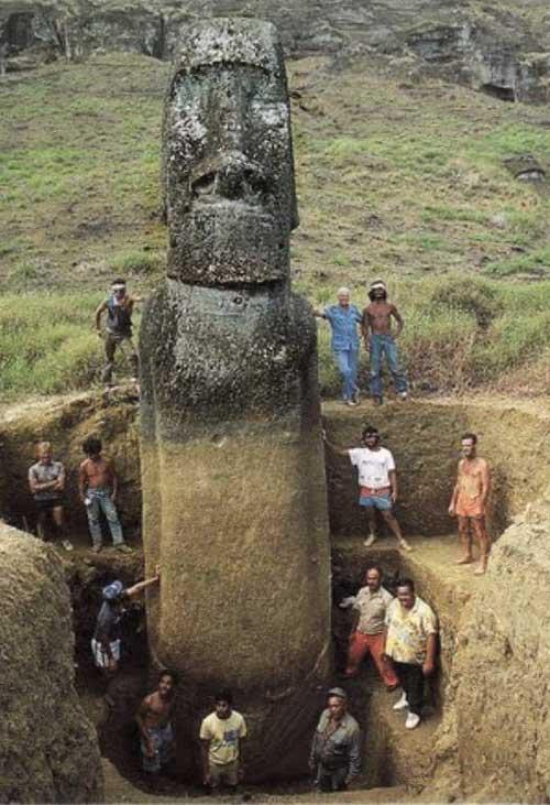 Berühmt Quoi ? les statues de l'île de Pâques n'étaient pas que des têtes  DU25